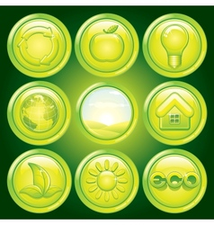 Ecological Icons vector image