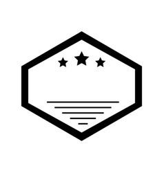elegant frame casino icon vector image