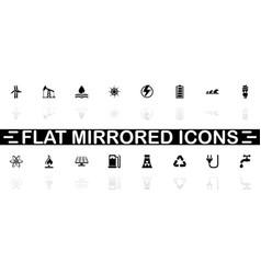 energy - flat icons vector image