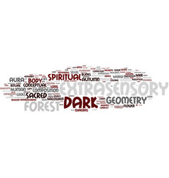 Extrasensory word cloud concept vector