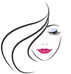 Face pretty woman silhouette vector