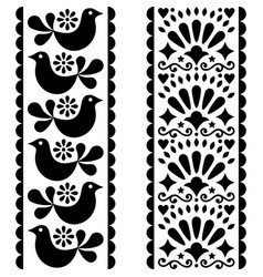 Folk art seamless pattern - mexican style design vector