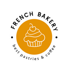 French bakery logotype badge label vector