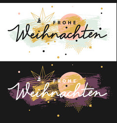 Frohe weihnachten christmas cards vector