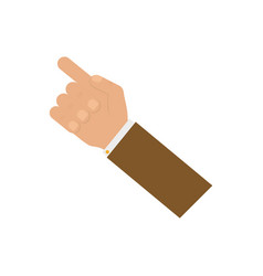 hand gesture sign vector image