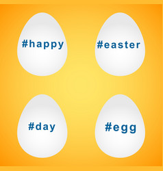 happy easter eggs hashtag design elements vector image