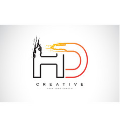 Hd creative modern logo design with orange and vector