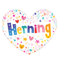 Herning is a danish city vector
