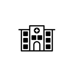 Hospital icon isolated on white background vector