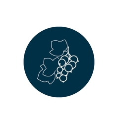 Icon Blackcurrant in the Contours vector