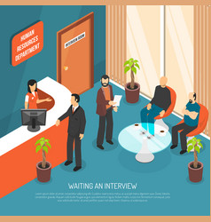 Interview waiting area vector