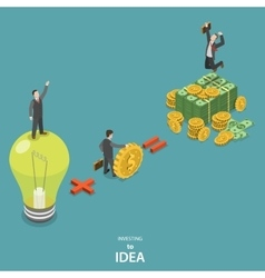 Investing into idea isometric flat concept vector image