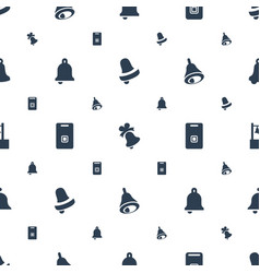Jingle icons pattern seamless white background vector