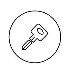 key icon line vector image
