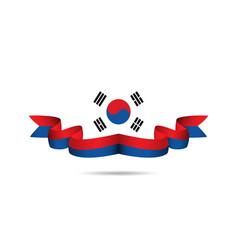 Korea republic ribbon flag template design vector