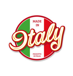 made in italy sign button with flag vector image