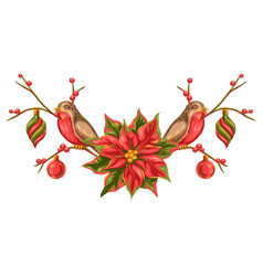 merry christmas decoration design vector image