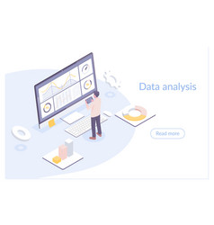 modern flat isometric data vector image