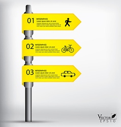 Modern sign infographics EPS 10 vector image