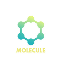 Molecule icon logo element on white vector