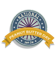 national peanut butter day sign vector image