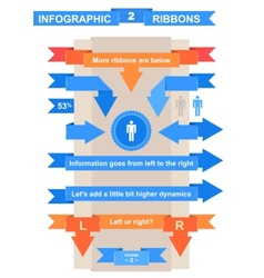 Nice ribbon set for infographic title vector