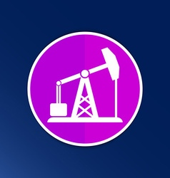 oil rig icon button logo symbol concept vector image
