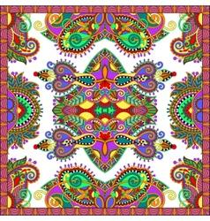 ornamental floral paisley bandanna Square vector image