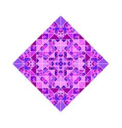 Ornate triangular mosaic diagonal square symbol vector