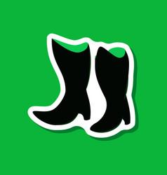 Paper sticker fashion footwear women boots vector