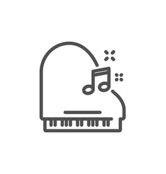 Piano line icon musical instrument sign vector