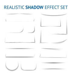 Realistic shadow effect collection vector