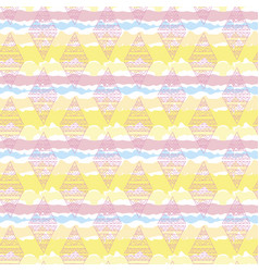 Rhombus colorful seamless pattern vector