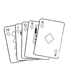 royal flush playing cards poker casino vector image