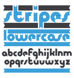 Set of cool lowercase english alphabet letters vector