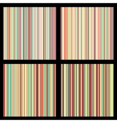set striped seamless patterns vector image