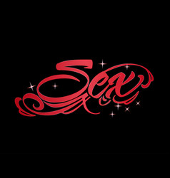 sex word design vector image