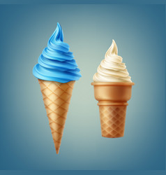 Soft ice cream vector
