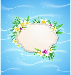 Summer blue marine background vector image vector image