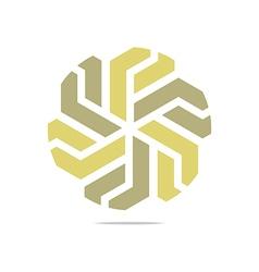 symbol hexa connecting icon ele vector image