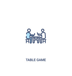 Table game concept 2 colored icon simple line vector