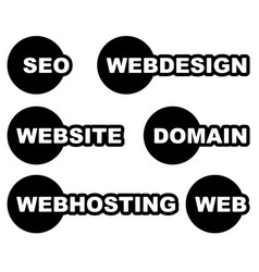 Tags labels with web web related words seo vector