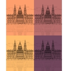 The Hungarian Parliament Building vector