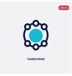 Two color tambourine icon from brazilia concept vector