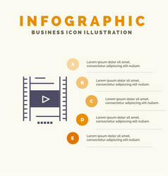 Video lesson film education infographics vector