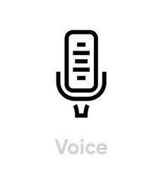 voice microphone icon editable outline vector image