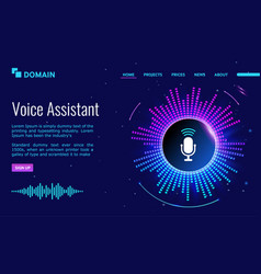 voice personal online assistant landing page vector image