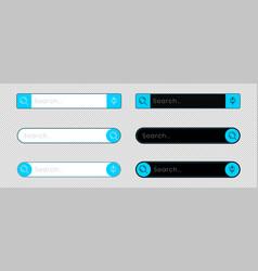 Web search bar design for application vector