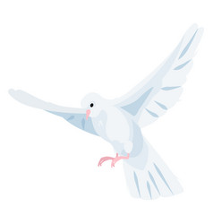 white dove icon beautiful religious symbol vector image