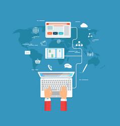 Work in network vector